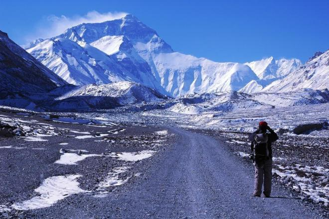 Scenery of Mount Everest in Tibet China