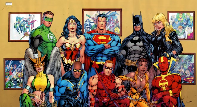 Justice League of America Group Photo