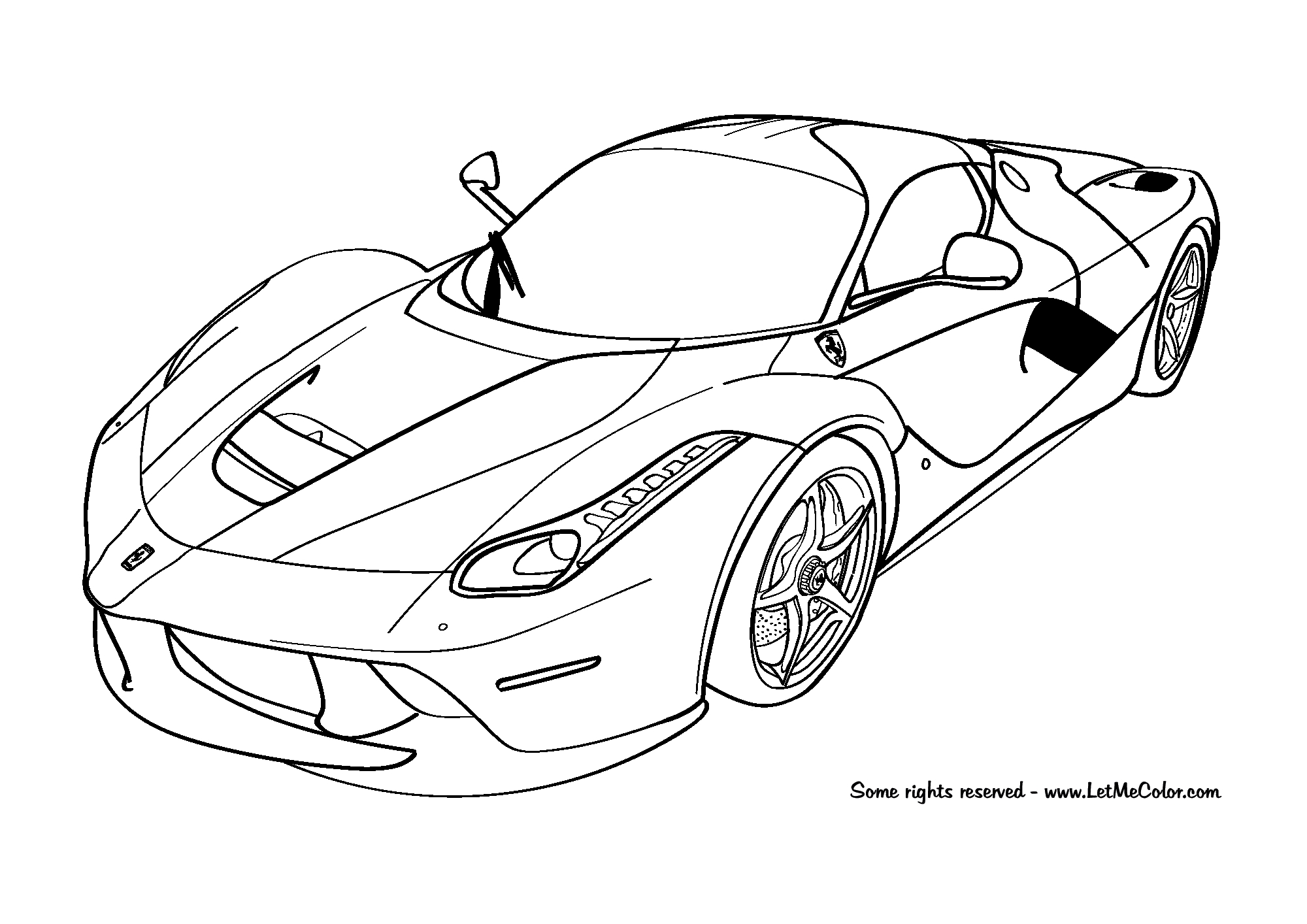 Carros Para Colorir Ferrari