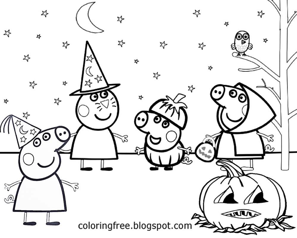 Imprimir Peppa Pig Halloween