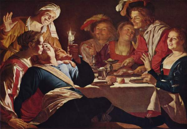 La Joie Des Convives Honthorst Te Emotion In Art