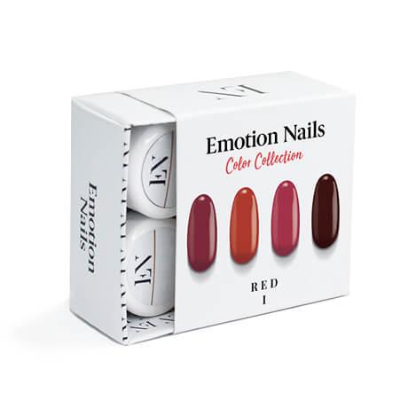Kit Red composto da 4 color gel con varie tonalita' di Rosso
