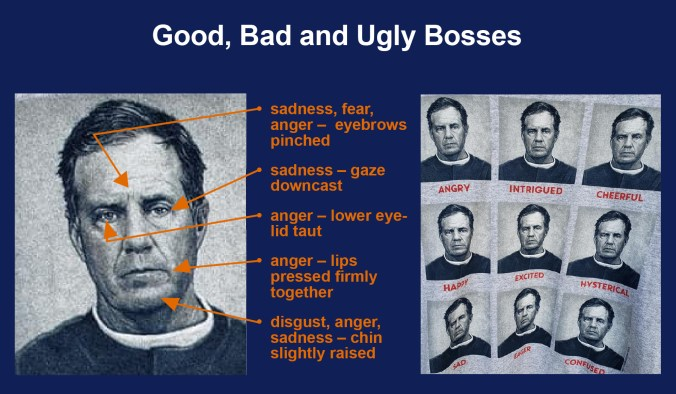 The many (same) expressions of New England Patriots coach Bill Belichick