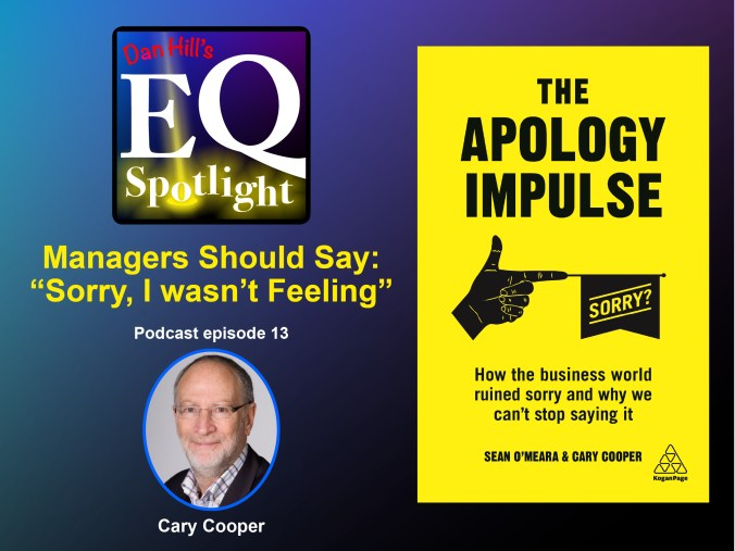 "Image of the book ""The Apology Impulse"" by knighted author, Cary Cooper, This book explains why companies are apologizing like crazy"