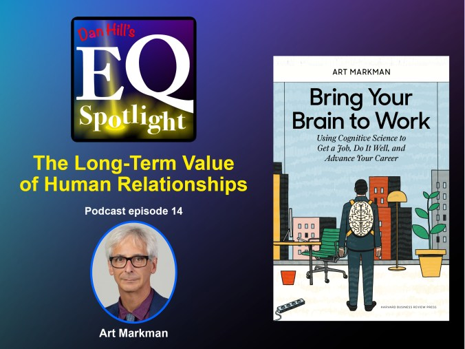 "University of Texas Psychology and Marketing professor Art Markman and his book Bring Your Brain to Work, is the latest guest on ""Dan Hill's EQ Spotlight"" podcast"
