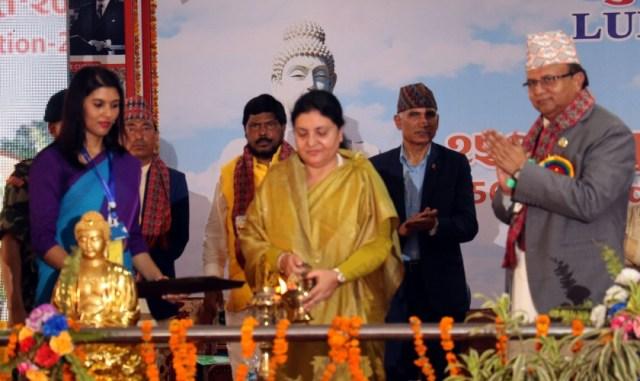लुम्बिनी भ्रमण वर्ष २०७६ को उद्घाटन