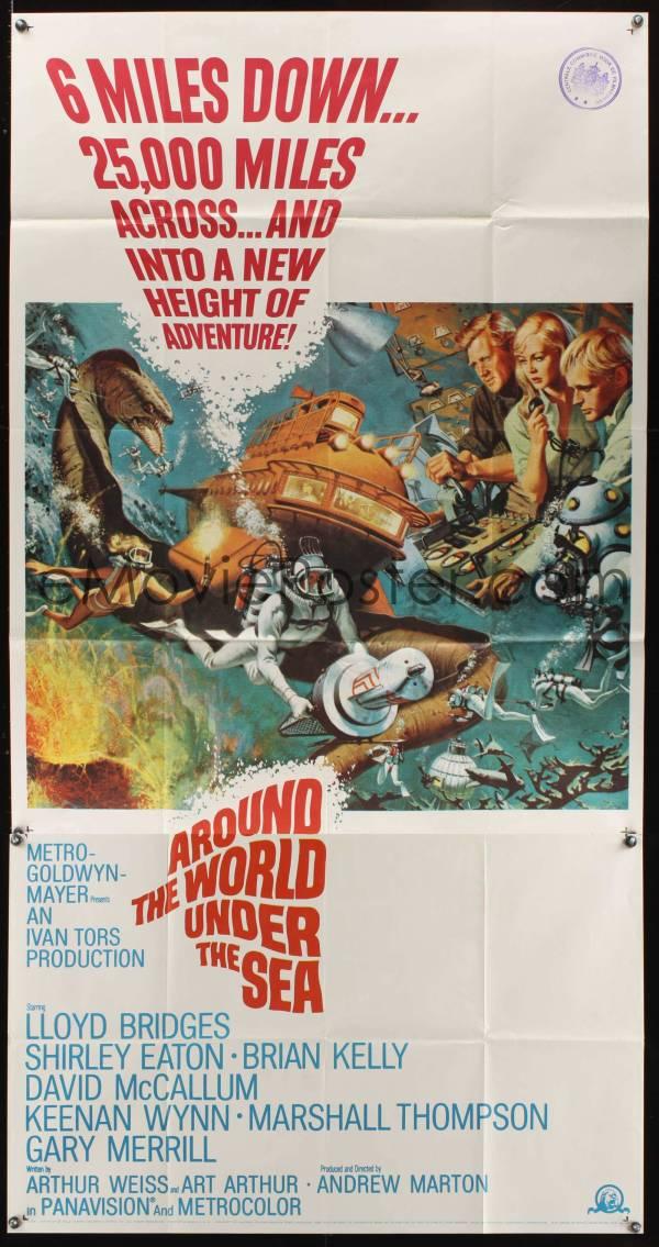 1079ff World Under Sea 3sh '66 Lloyd Bridges Great