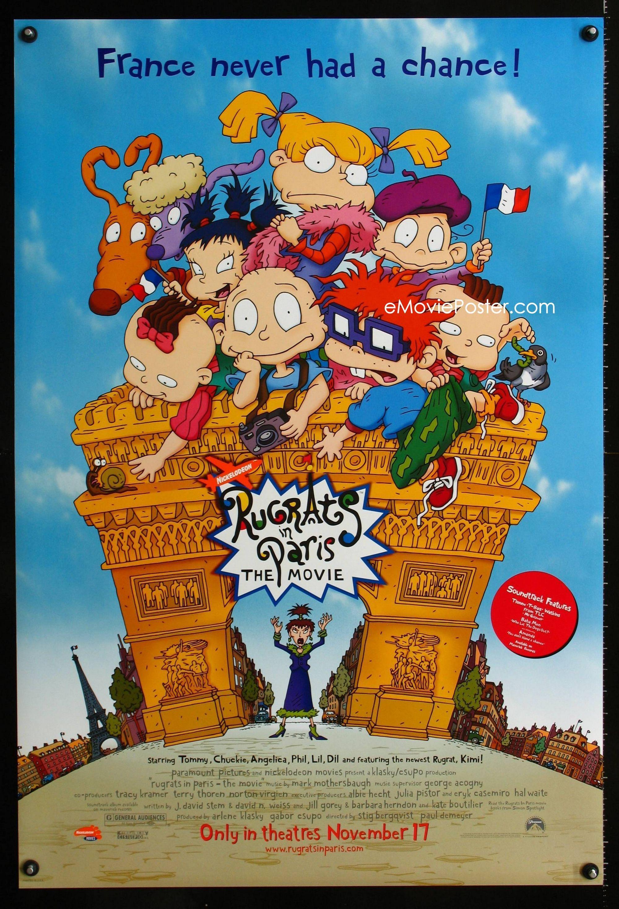 Nickelodeon Paris : nickelodeon, paris, EMoviePoster.com, Image, 0756UF, RUGRATS, PARIS, Advance, Great, Cartoon, Nickelodeon, France!