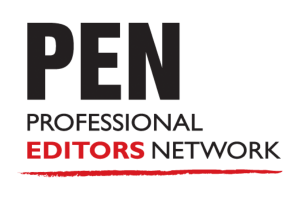 Logo showing membership to PEN thee Professional Editors Network