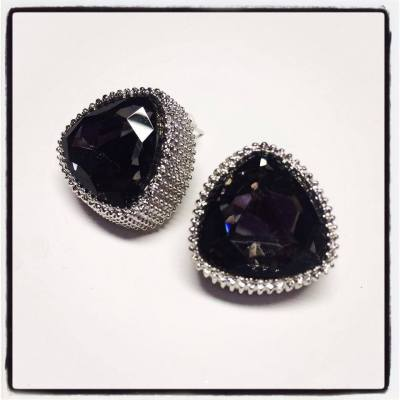 Smoky stud earrings