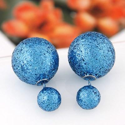 Reverse studs glitter blue