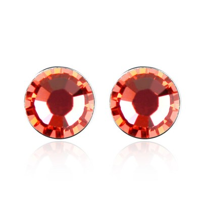 Austrian crystal studs in padparadscha