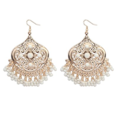 Abrielle bohemian earrings white