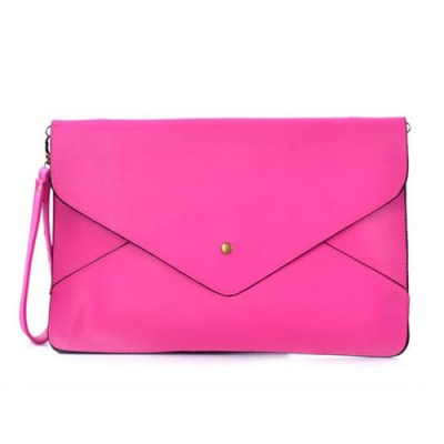 Large envelope style bag in hot pink
