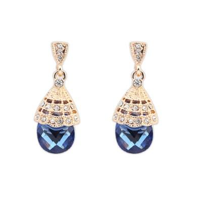 Alena rhinestone earring blue