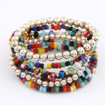 Bohemian bracelets in multicolour