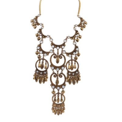 Zenebe tribal necklace gold