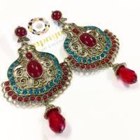 Cancun red blue statement earring- Shop Online Jewellery ...
