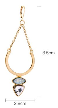 Opal gold horseshoe earrings- Shop Online Empayah ...