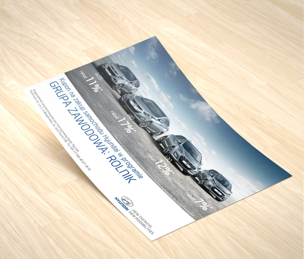 Nord Auto Białystok Ulotka przygotowana dla Nord Auto Białystok – autoryzowanego dealera marki Hyundai.