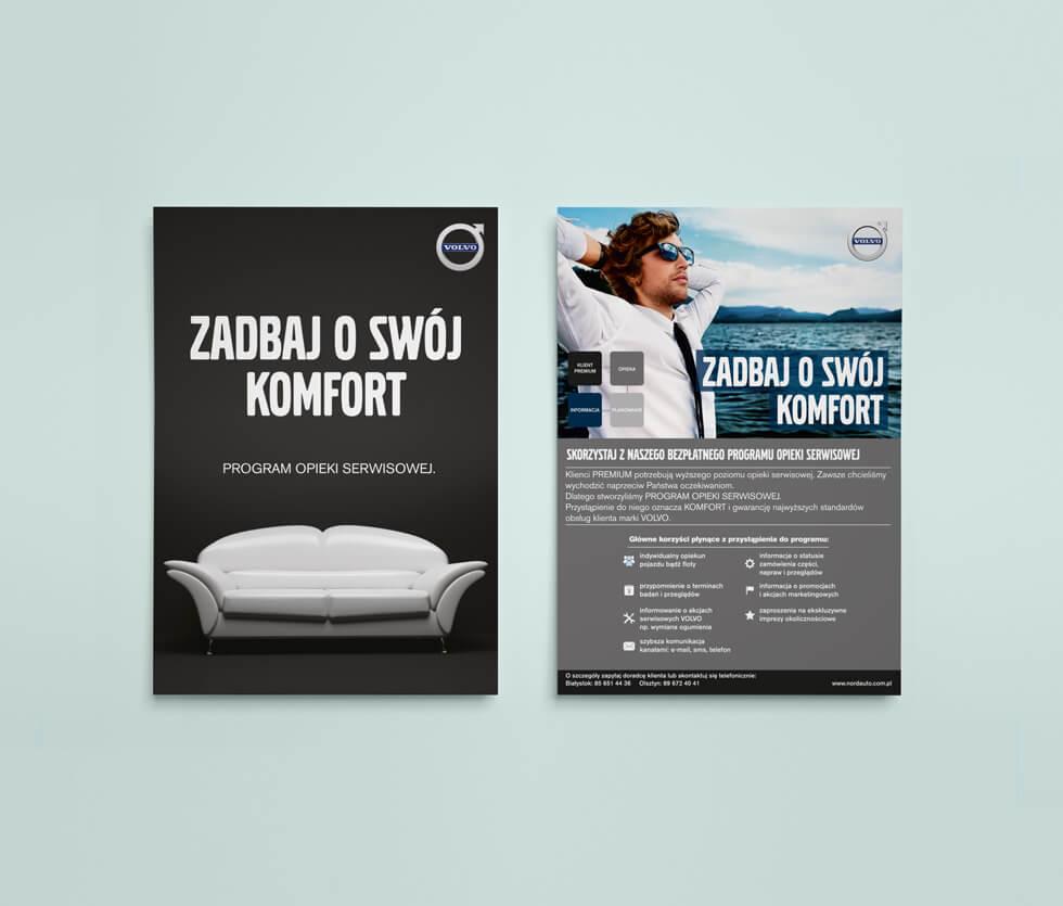 Nord Auto Białystok Ulotka przygotowana dla Nord Auto Białystok – autoryzowanego dealera marki Volvo.
