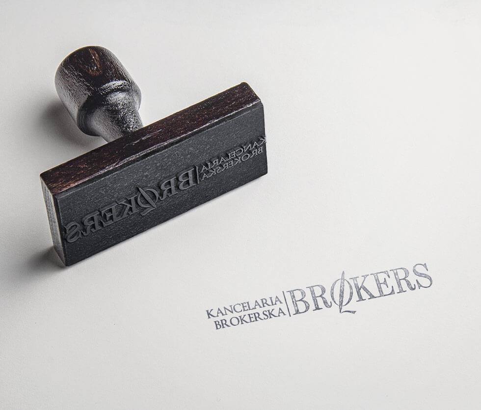 Brokers Logo stworzone dla kancelarii brokerskiej.