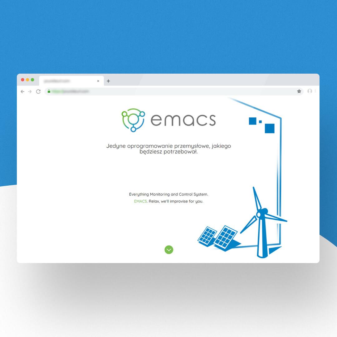 Grafika przedstawia zrzut ekranu przeglądarki internetowej. Widzimy stronę internetową emacs.energy
