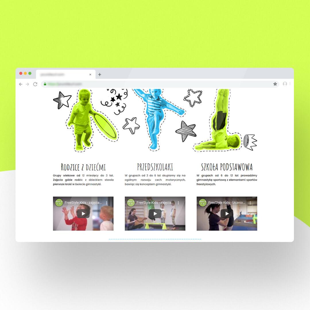 Grafika przedstawia zrzut ekranu przeglądarki internetowej. Widzimy stronę internetową fskids.pl