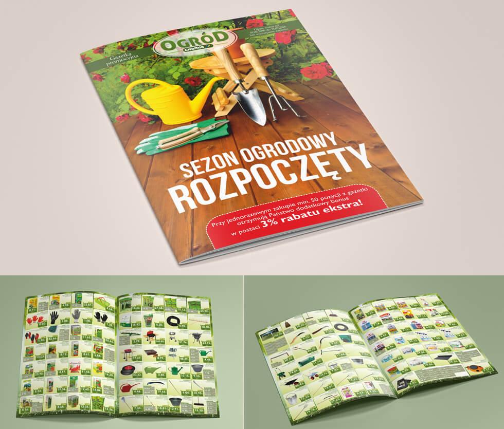 PHCH Chemia Białystok Gazetka reklamowa przygotowana dla Chemii Białystok prezentująca ofertę na produkty do ogrodu. Projektowana i drukowana przez nas.