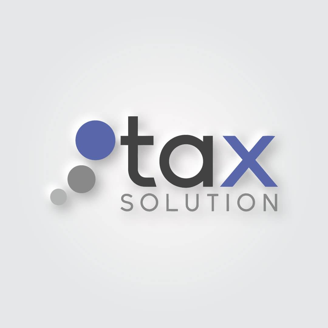 Tax solution Logo oraz księga znaku wykonana dla firmy Tax SOLUTION.