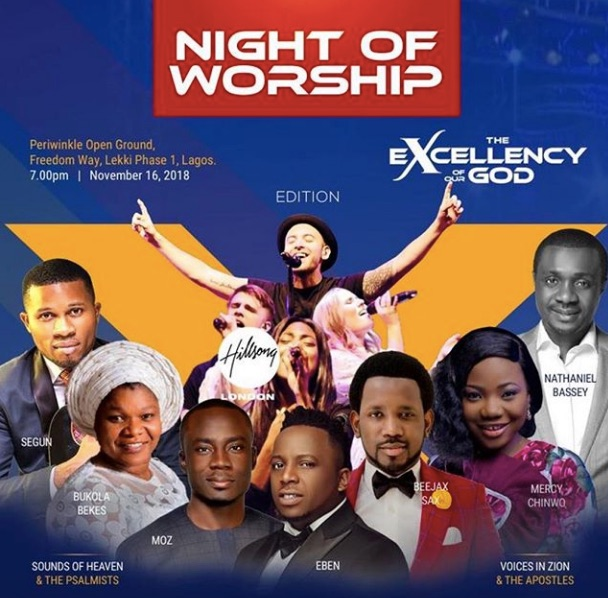 hillsong church at night of worship