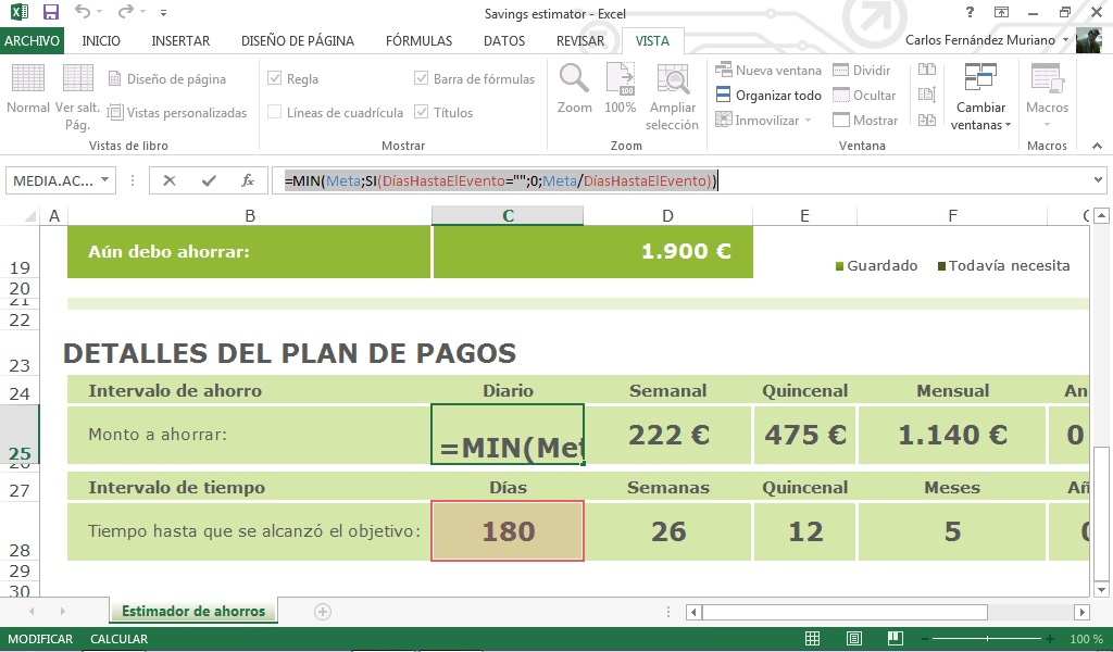 Excel 2013 Clculo De Ahorro Informtica Educativa