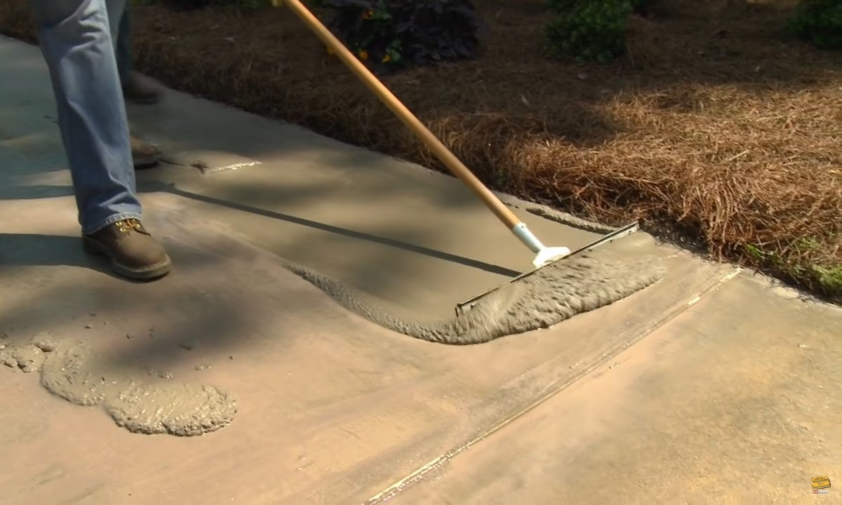 rescue a worn out concrete patio