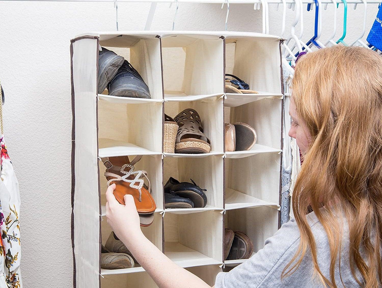 the best over the door shoe rack for