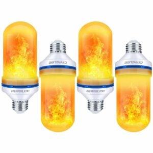 Die beste Option für Flammenglühbirnen: CPPSLEE LED-Glühbirne mit Flammeneffekt, 4 Modi
