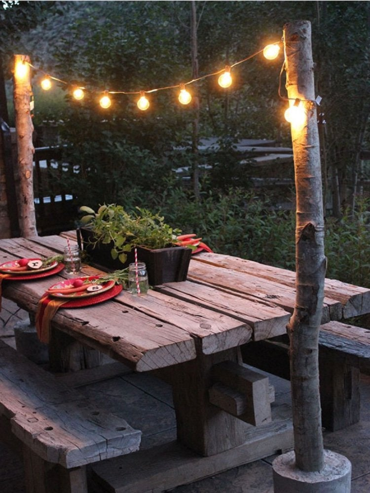 13 backyard string light ideas that are