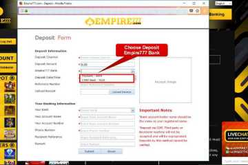 Malaysia Online Casino Empire777 Deposit Form Guide