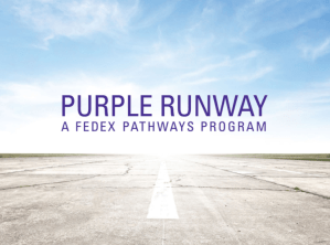 FedEx Purple Runway