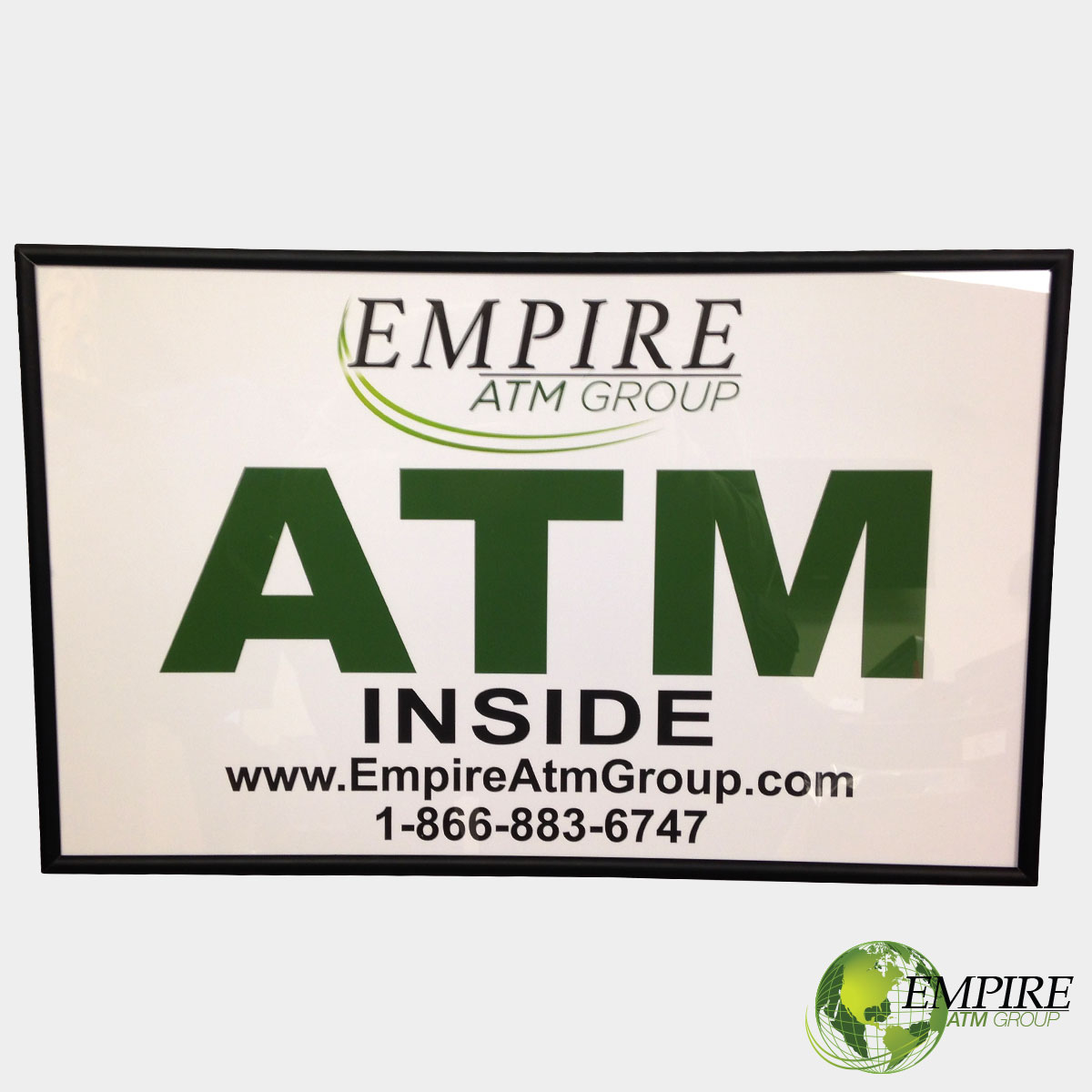 Backlit Empire ATM Sign