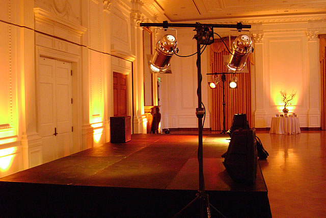 selections for stage lighting rental