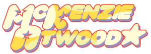 mckenzie atwood text in style of steven universe logo