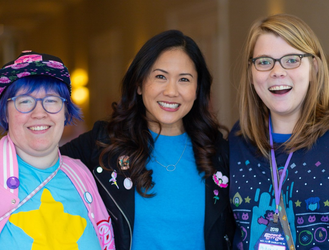 Grace Kraft, Deedee Magno Hall and McKenzie Atwood at Empire City Con 2019