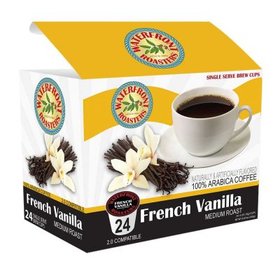 Waterfront Roasters French Vanilla Flavored Coffee Cups
