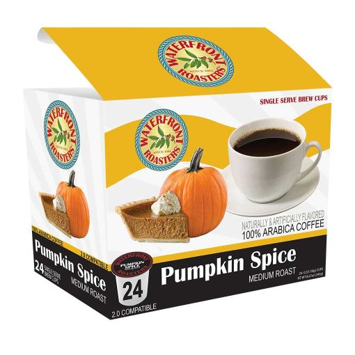 Waterfront Roasters Pumpkin Spice Flavored Coffee Cups