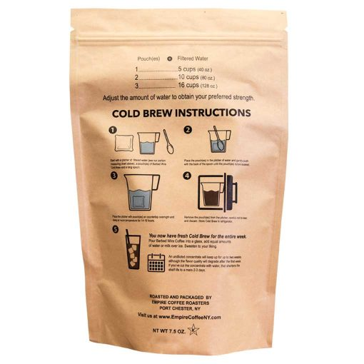 Barbed Wire Cold Brew Pouch Instructions