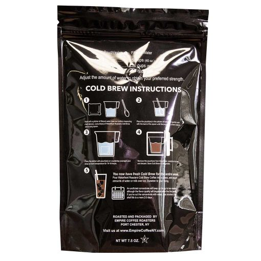 Waterfront Roasters Cold Brew Pouch Instructions