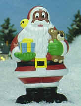 Holiday Christmas Lawn Decorations Santa Claus African ...