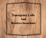 Emergency Call and Renters Insurance