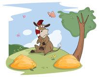 ilustracja-śliczny-mały-burro-buridan-s-osioł-98193699