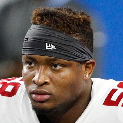 New York Giants linebacker, Tae Davis.